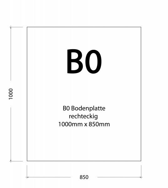 850 x 1000 x 8 mm (klar)