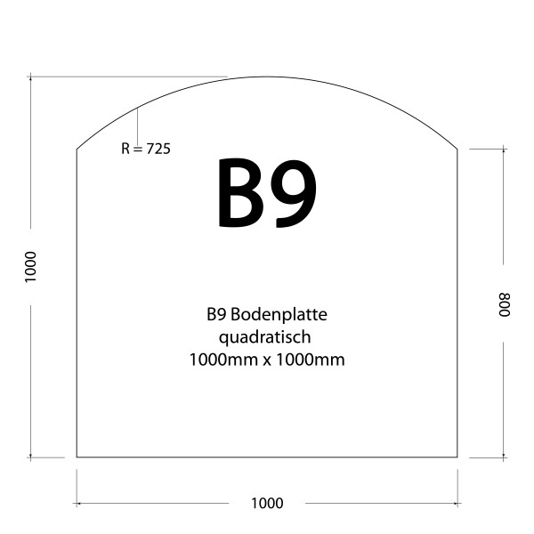 1000 x 1000 x 8 mm (klar)