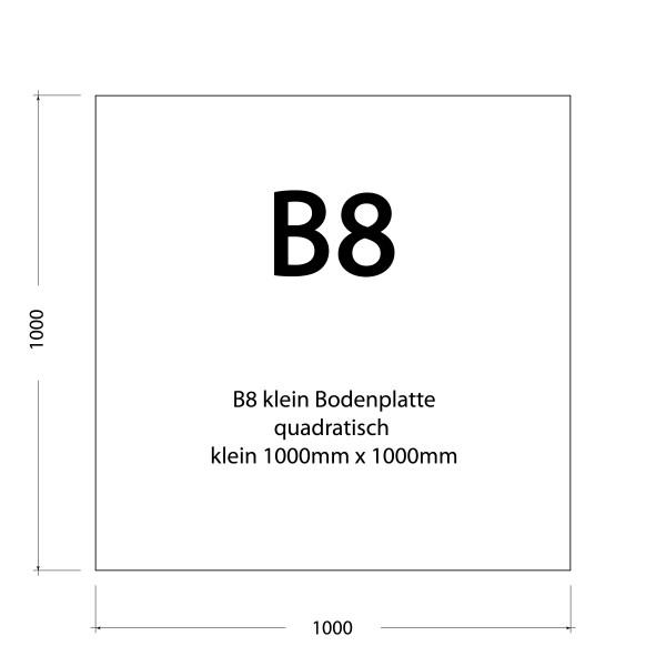 1000 x 1000 x 1,5 mm (Grau, Schwarz, Edelstahl)