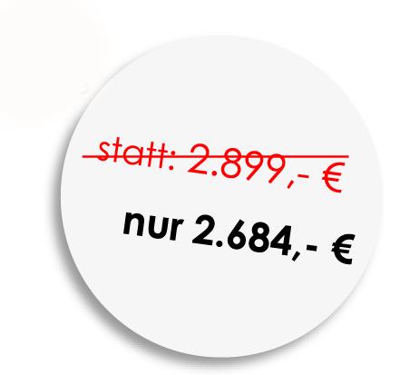 Sie sparen bis zu 250 €!